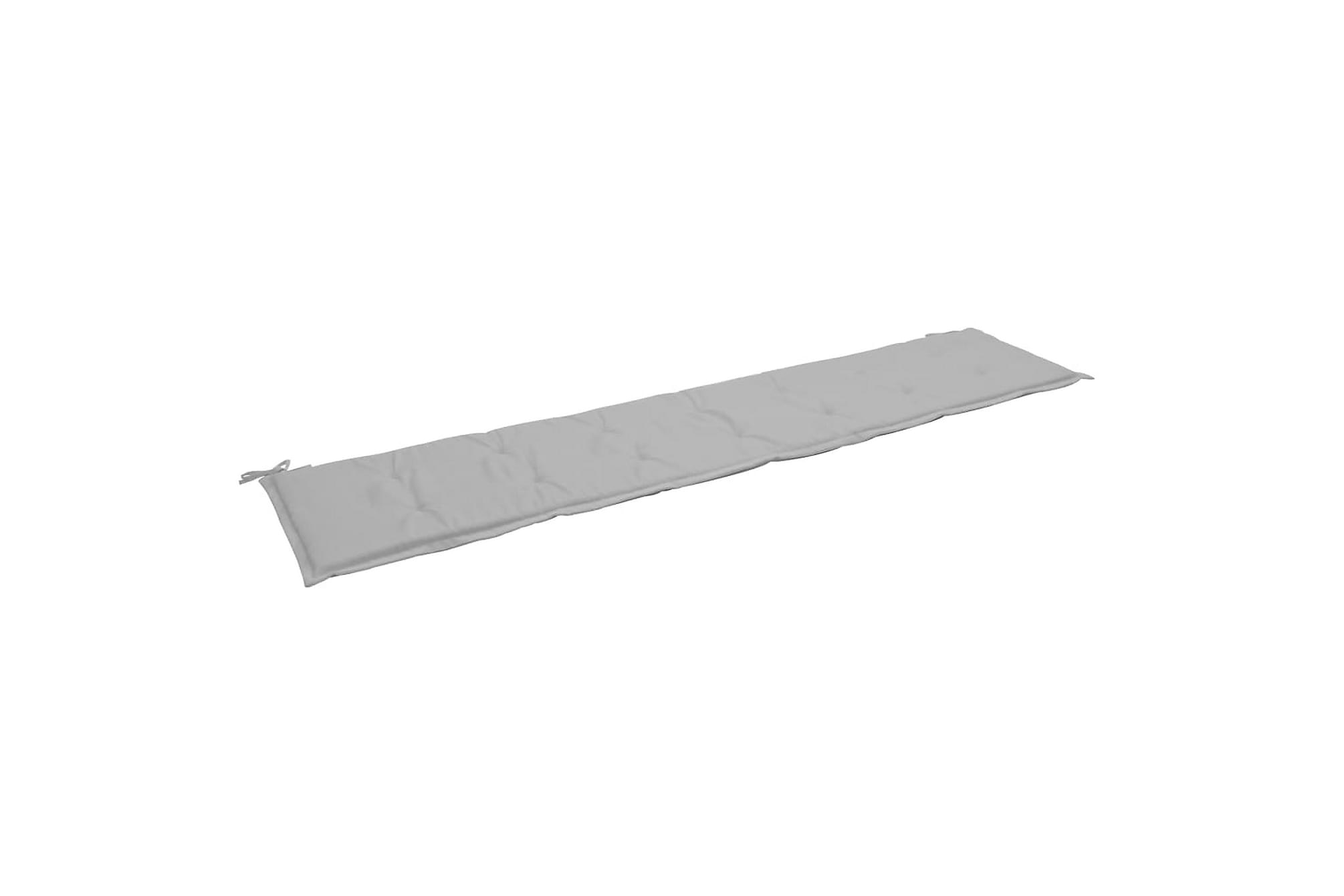 Bänkdyna för trädgården grå 200x50x3 cm, Soffdynor