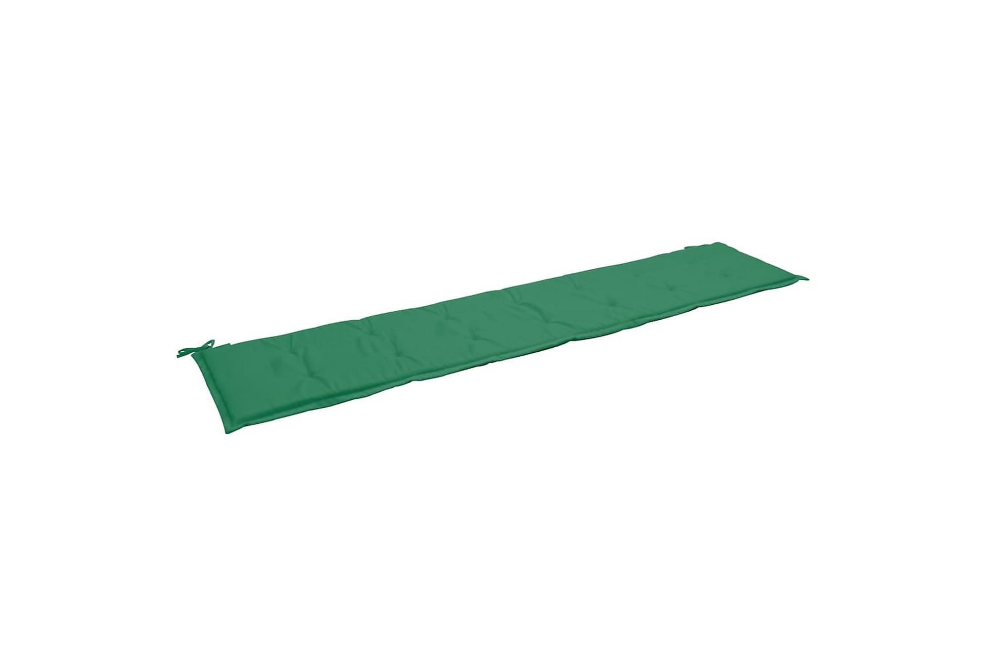 Bänkdyna för trädgården grön 200x50x3 cm, Soffdynor
