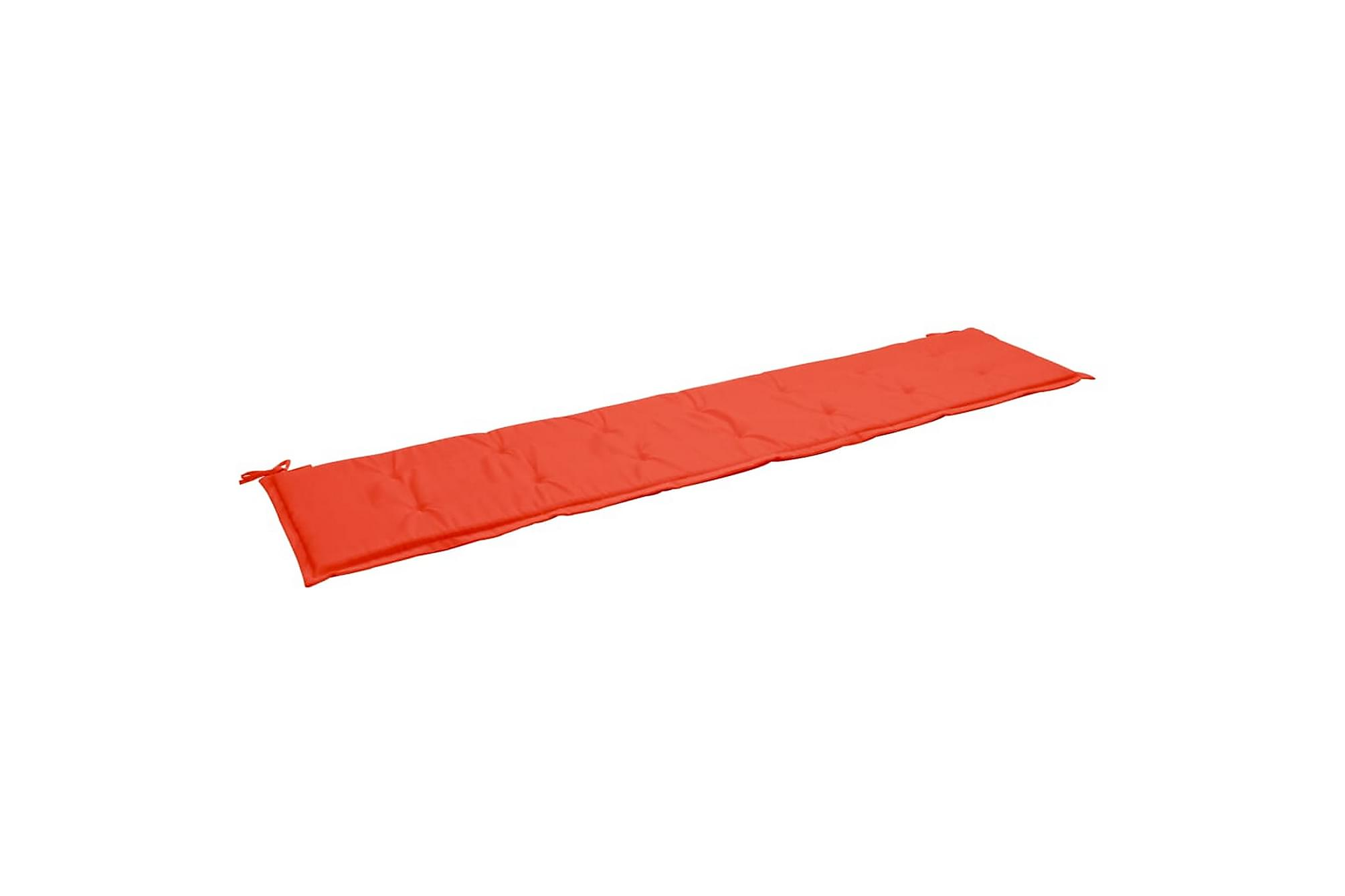 Bänkdyna för trädgården röd 200x50x3 cm, Soffdynor
