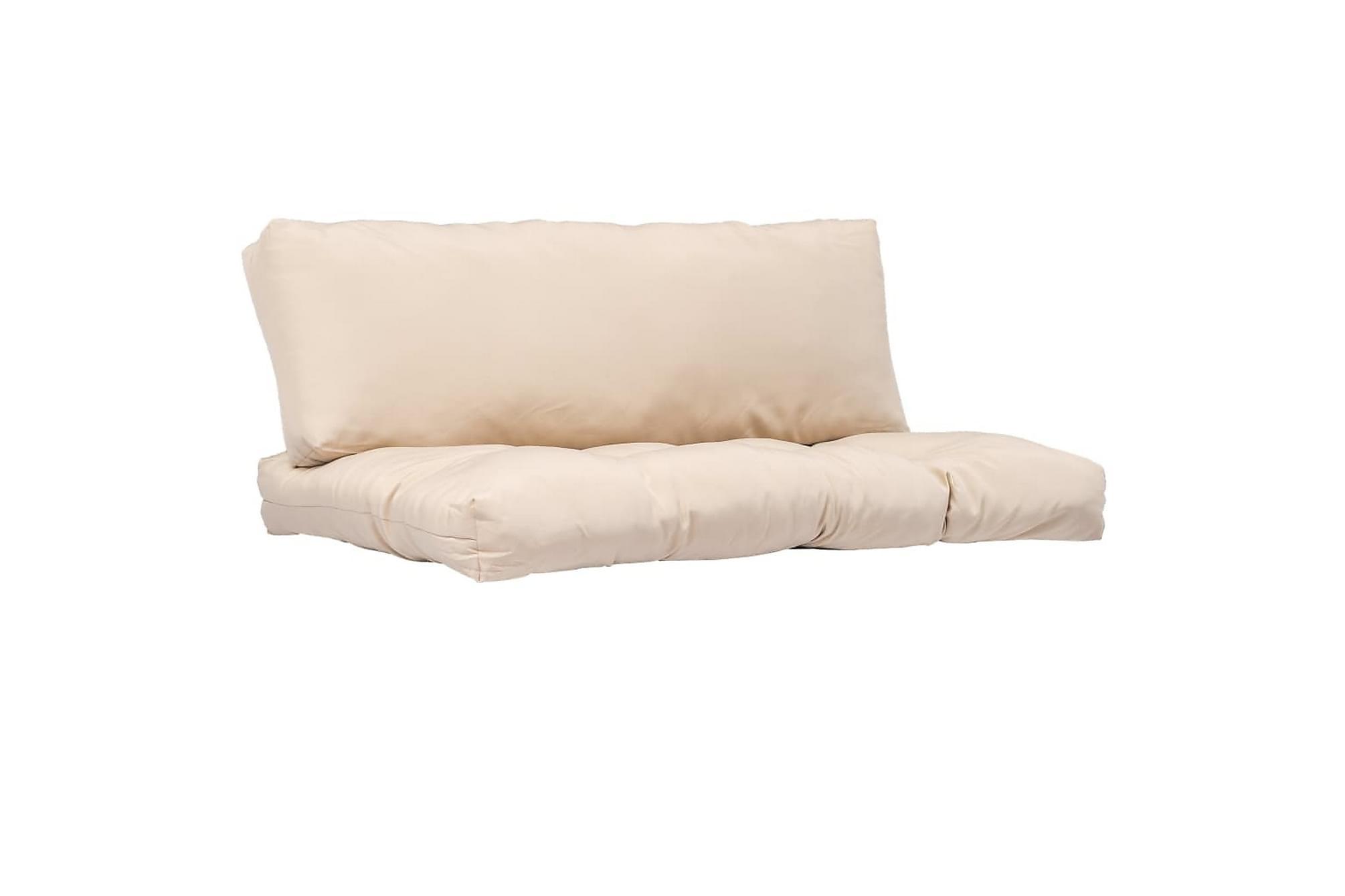 Dynor till pallsoffa 2 st beige polyester