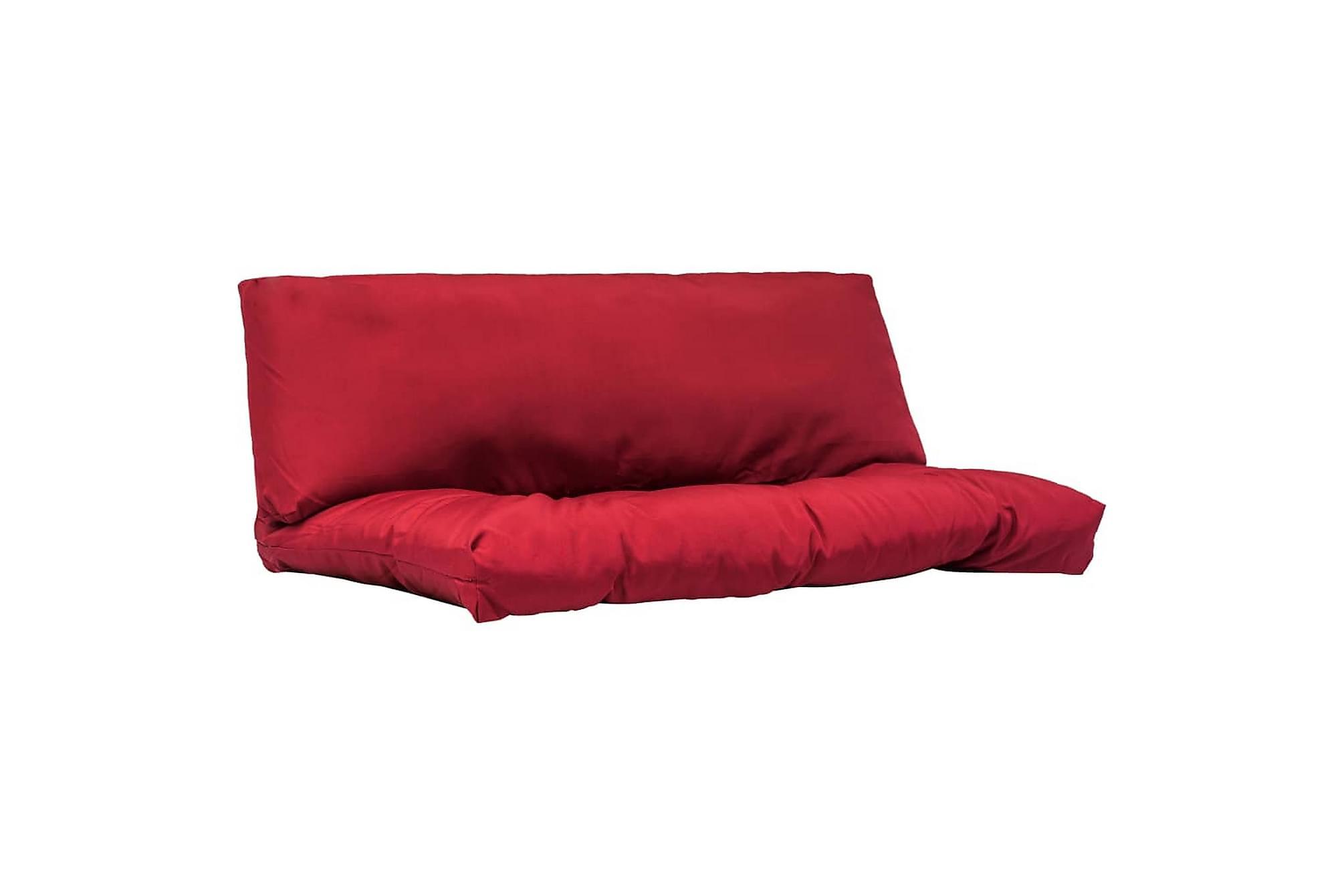 Dynor till pallsoffa 2 st röd polyester