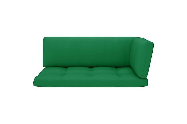 Dynor till pallsoffa 3 st grön - Grön - Utemöbler - Dynor - Soffdynor