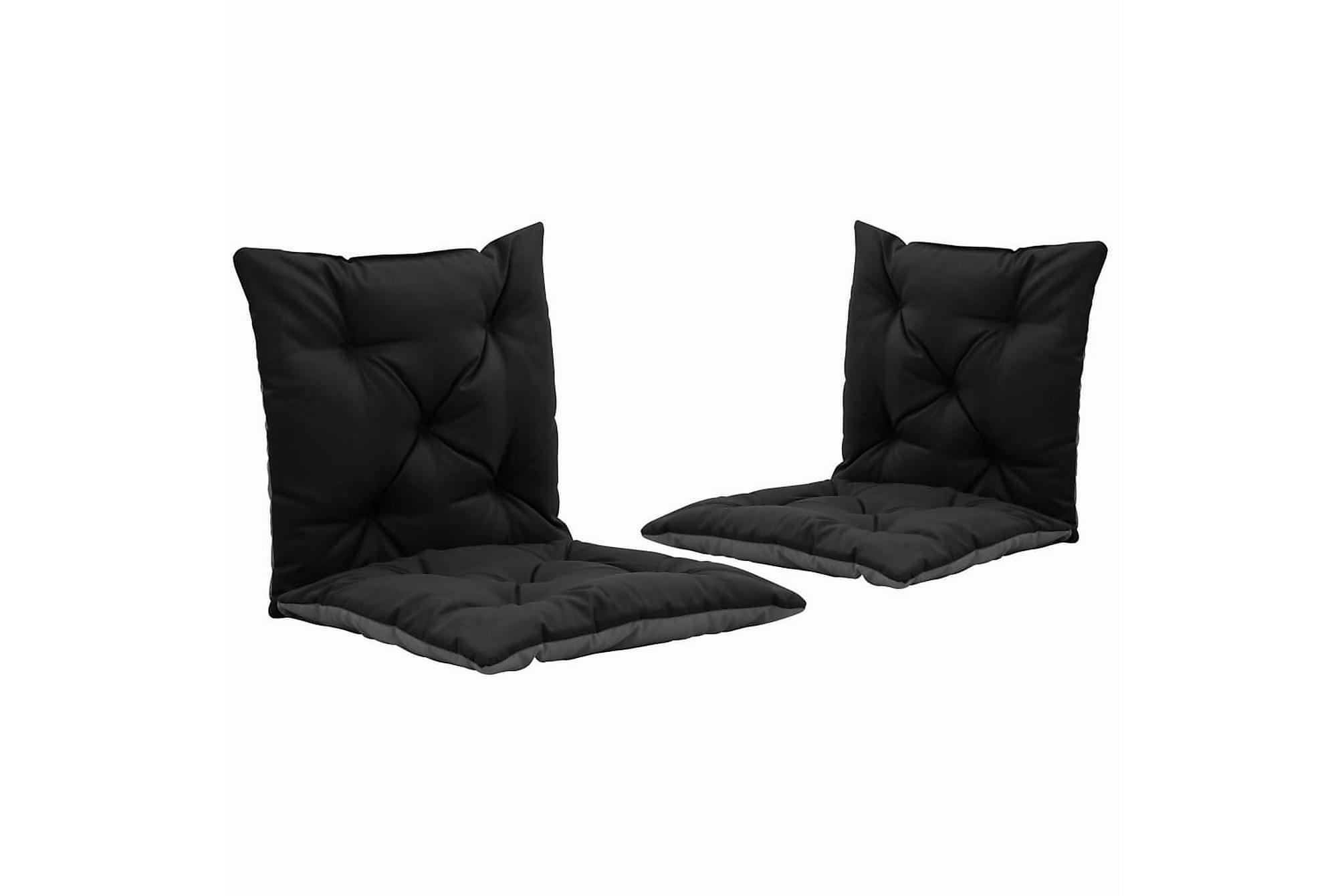 Dynor för hammock 2 st svart och grå 50 cm tyg, Hammockdynor