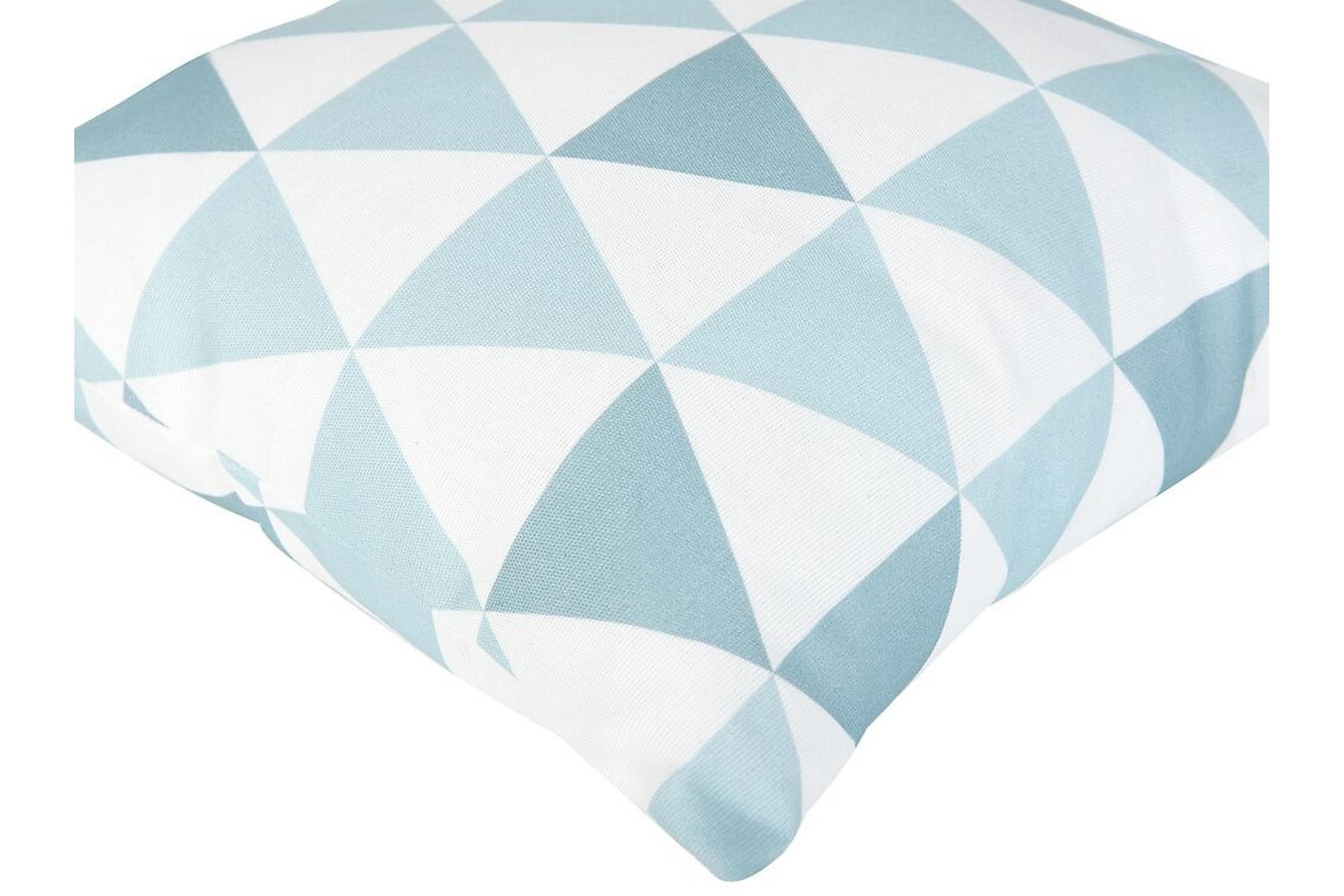 ACHINGILLS Trädgårdskudde Trianglar 40x40 cm Blå, Övriga dynor