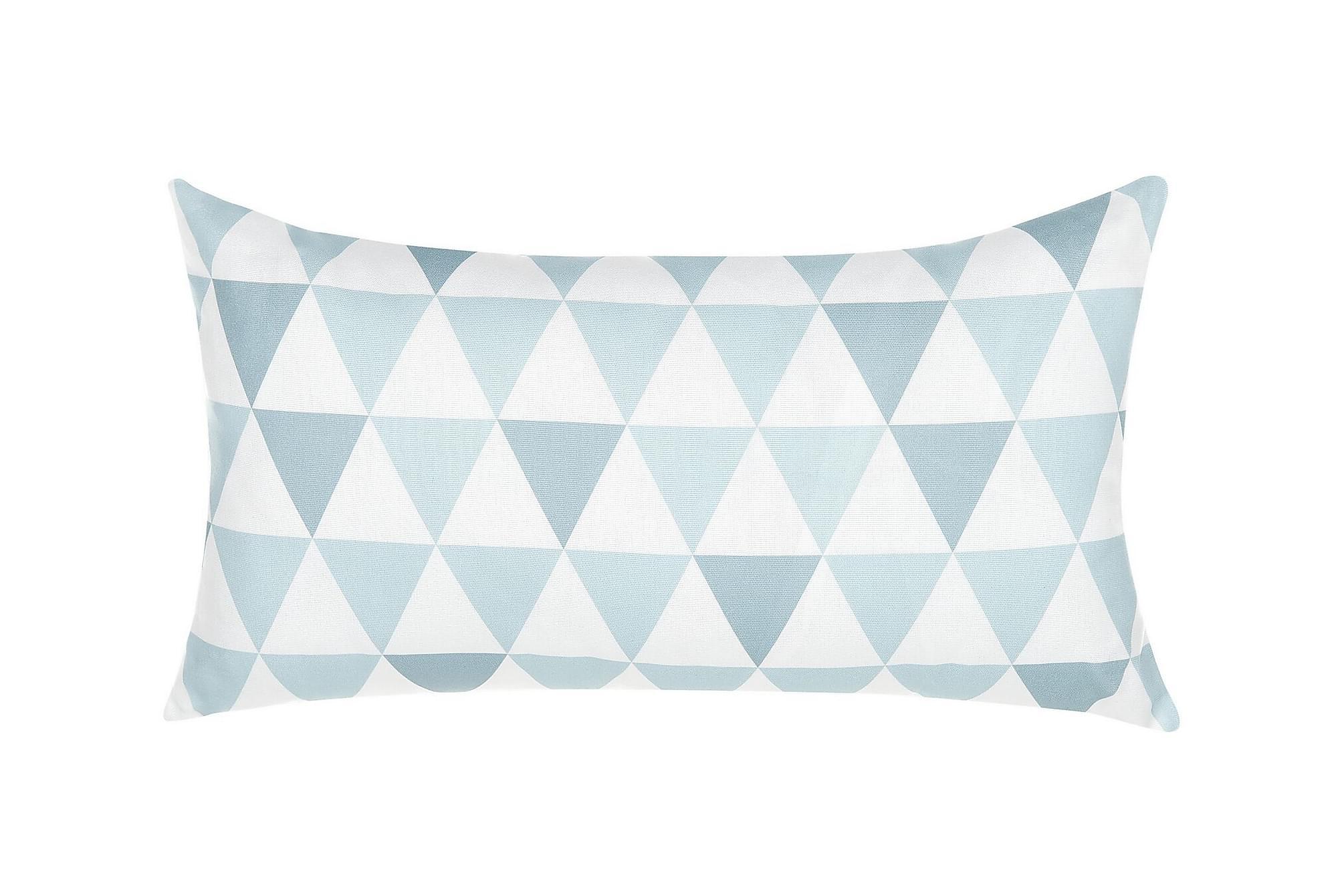 ACHINGILLS Trädgårdskudde Trianglar 40x70 cm Blå, Övriga dynor