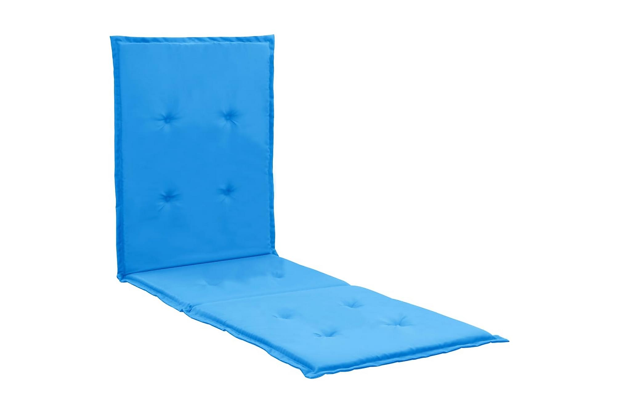 Dyna för solstol blå 180x55x3 cm, Positionsdynor