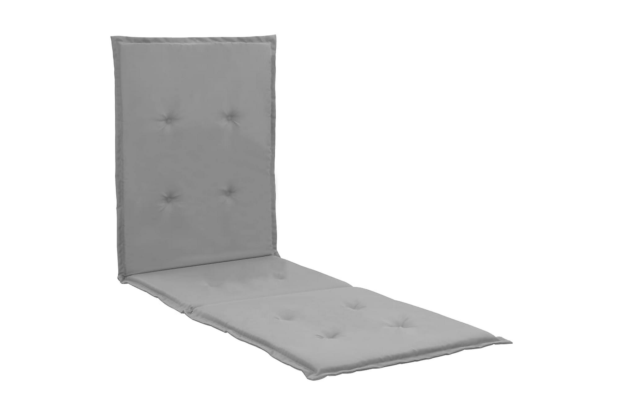 Dyna för solstol grå 180x55x3 cm, Positionsdynor