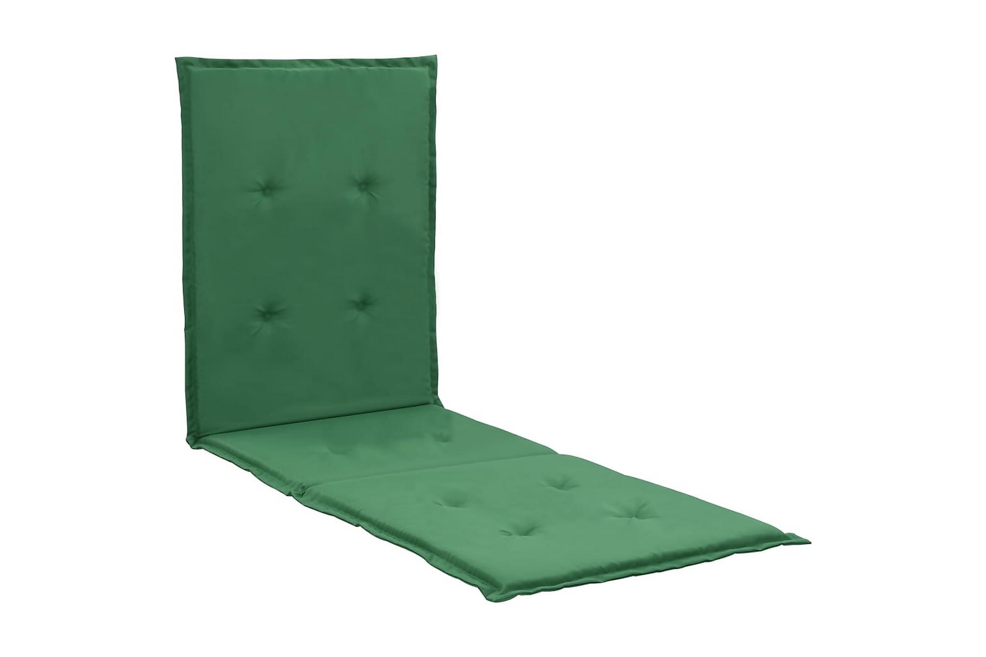 Dyna för solstol grön 180x55x3 cm, Positionsdynor