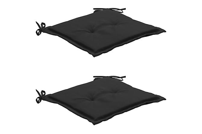 Stolsdynor för trädgården 2 st svart 50x50x3 cm - Svart - Utemöbler - Dynor - Sittdynor