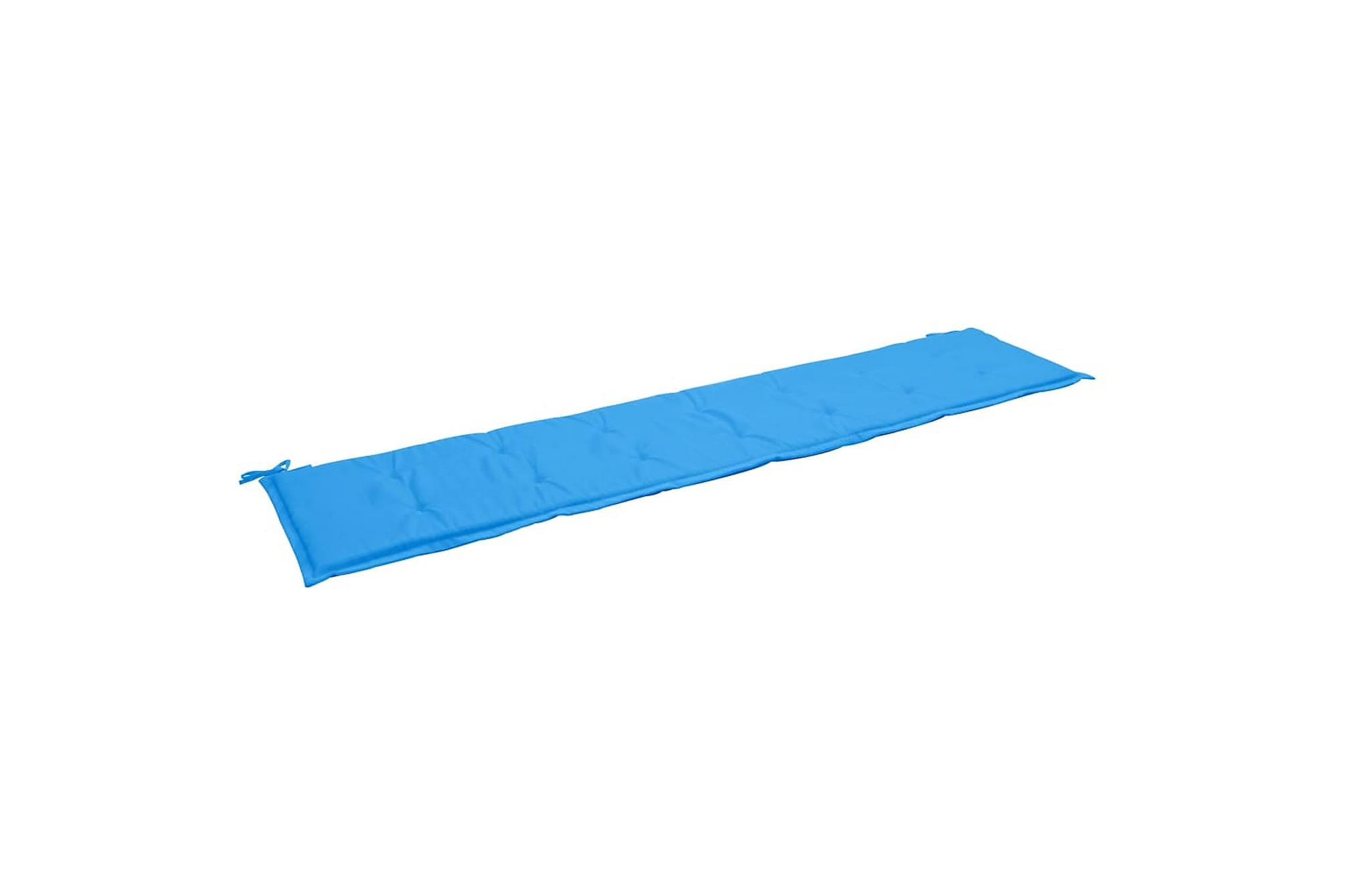 Bänkdyna för trädgården blå 200x50x3 cm, Soffdynor