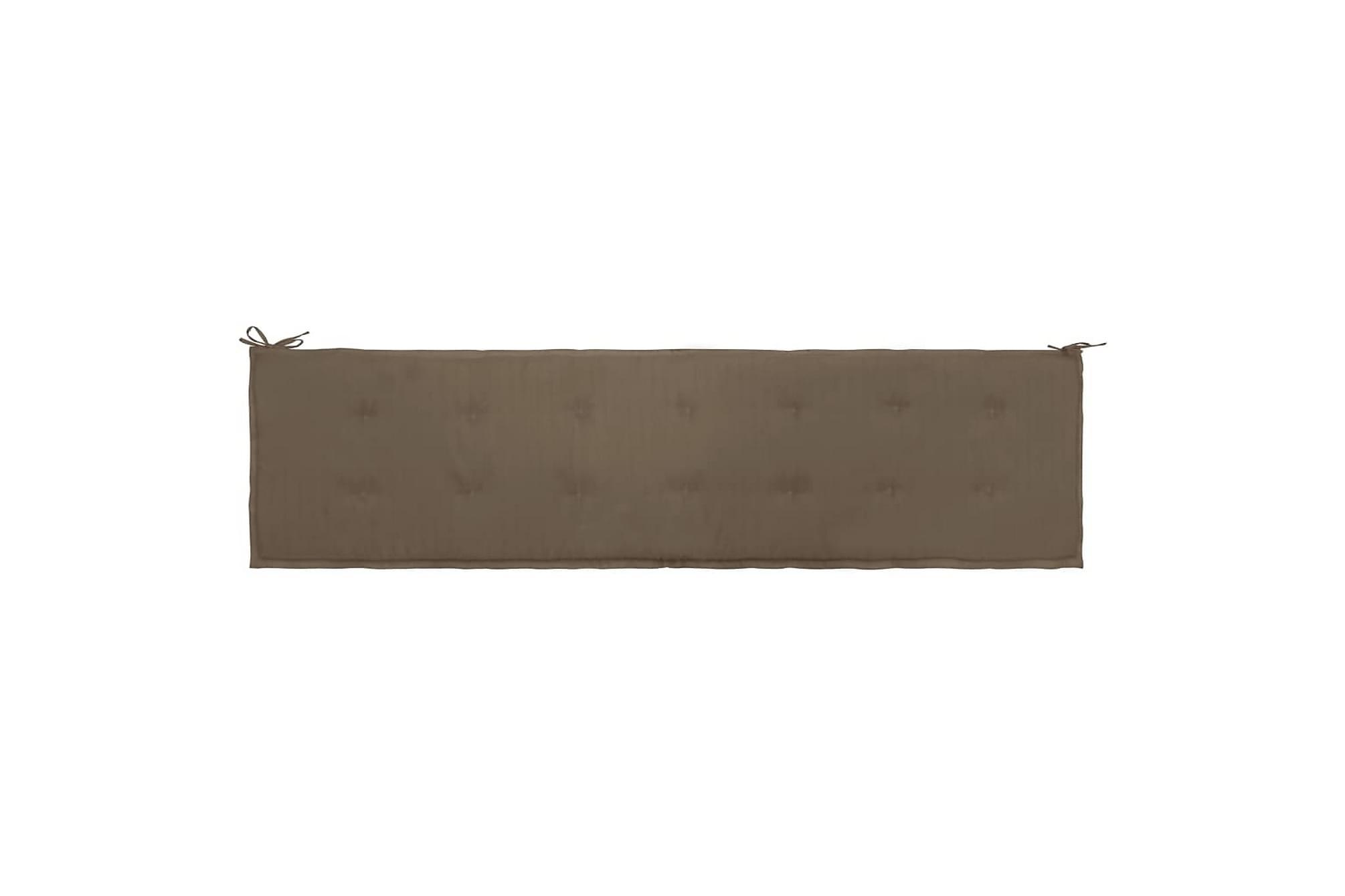 Dyna för trädgårdsbänk taupe 200x50x3 cm, Soffdynor