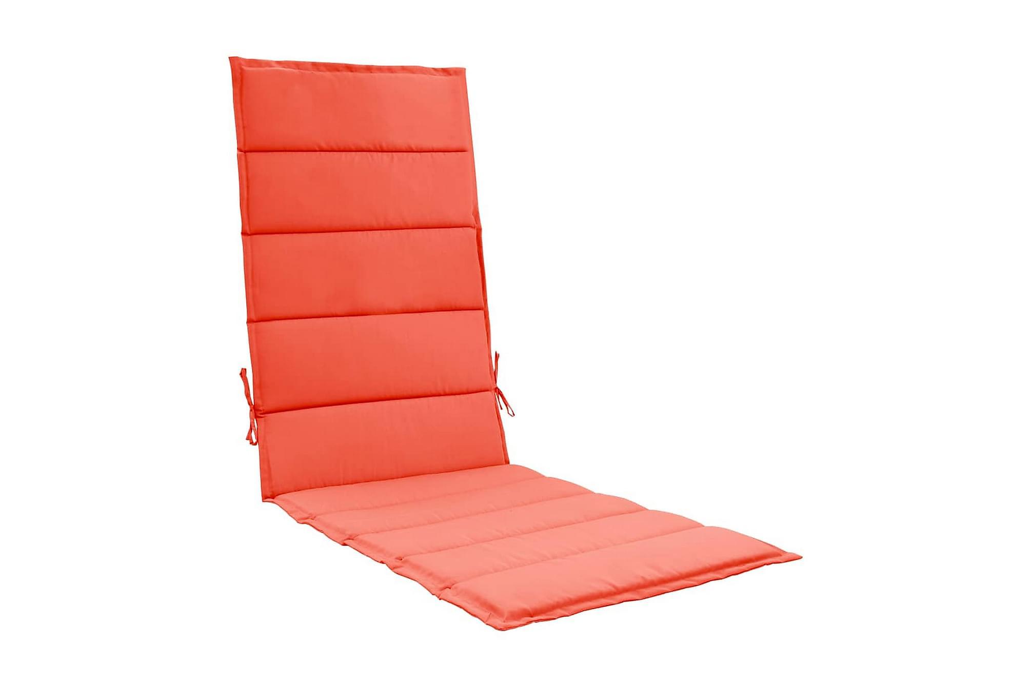 Solsängsdyna röd 190x60x3 cm