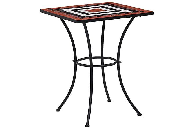 Mosaikbord 3 st keramik terrakotta och vit - Brun - Utemöbler - Utemöbelgrupper - Caféset