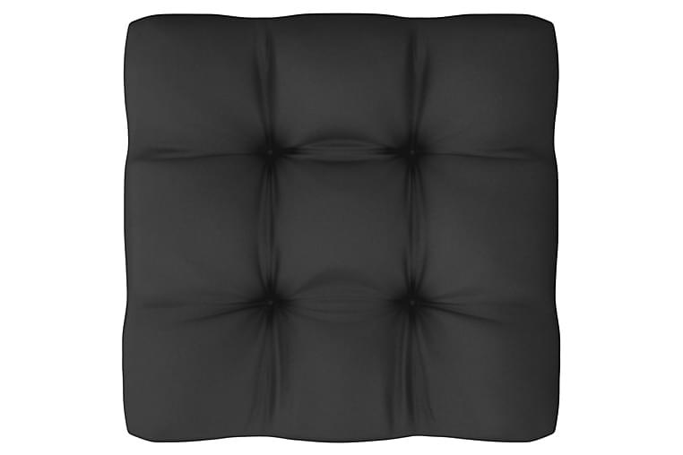 Loungegrupp med dynor 10 delar vit massiv furu - Vit - Utemöbler - Utemöbelgrupper - Loungemöbler