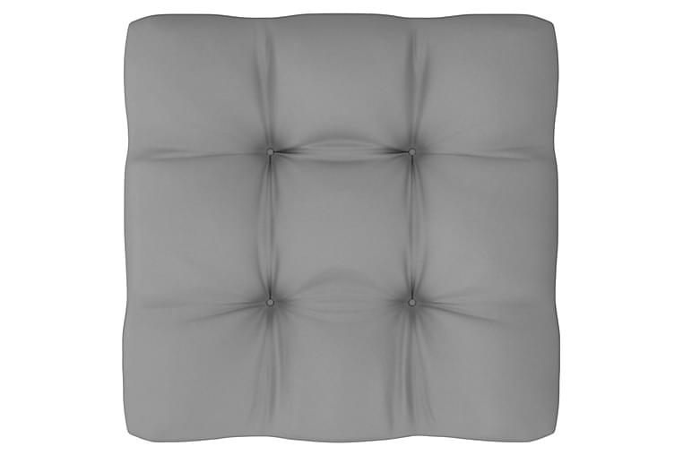 Loungegrupp med dynor 11 delar massiv furu - Brun - Utemöbler - Utemöbelgrupper - Loungemöbler