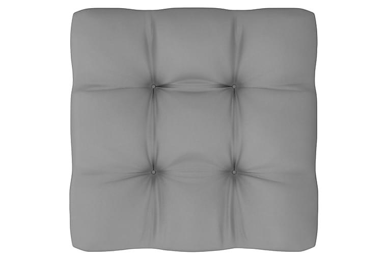 Loungegrupp med dynor 8 delar massiv furu - Brun - Utemöbler - Utemöbelgrupper - Loungemöbler