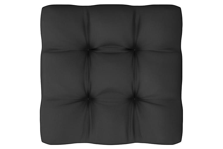 Loungegrupp med dynor 9 delar massiv furu - Vit - Utemöbler - Utemöbelgrupper - Loungemöbler