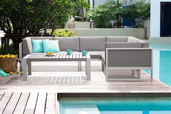 VINCI Loungegrupp 120 cm - Utemöbler - Utebord - Matgrupper utomhus