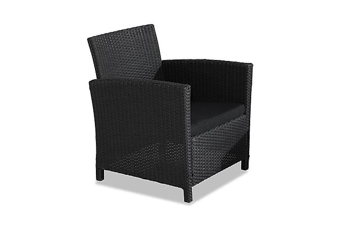ANTIGUA Soffgrupp Svart/Mörkgrå - Utemöbler - Utemöbelgrupper - Loungemöbler