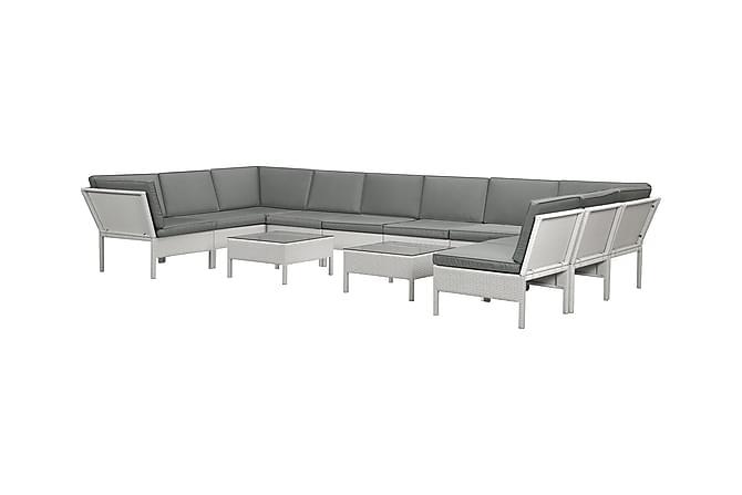 BAHAMA Grupp XL 1 Vit/Grå - Utemöbler - Utemöbelgrupper - Loungemöbler