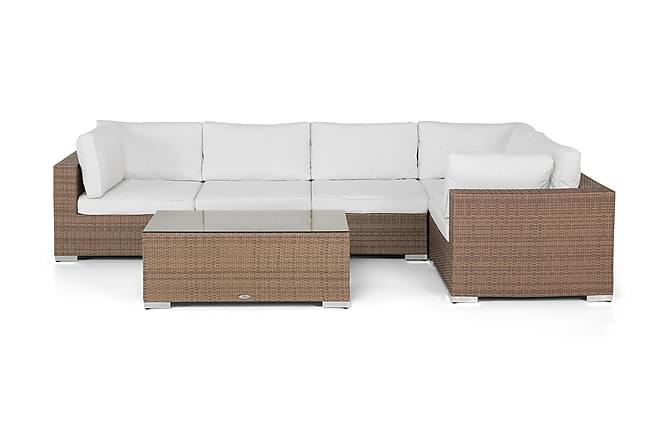 BAHAMAS Loungegrupp Medium + Bord Sand - Utemöbler - Utemöbelgrupper - Loungemöbler