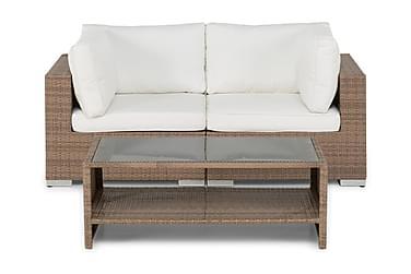 BAHAMAS Loungesoffa 2-sits + Bord Hylla Sand