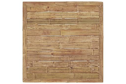 Loungegrupp för trädgården med mörkgrå dynor 7 delar bambu, Loungemöbler