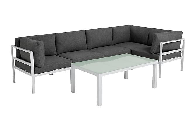 SIERRA Loungegrupp Large Vit - Utemöbler - Utemöbelgrupper - Loungemöbler