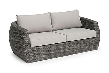 TARA 3-sits Loungesoffa Grå