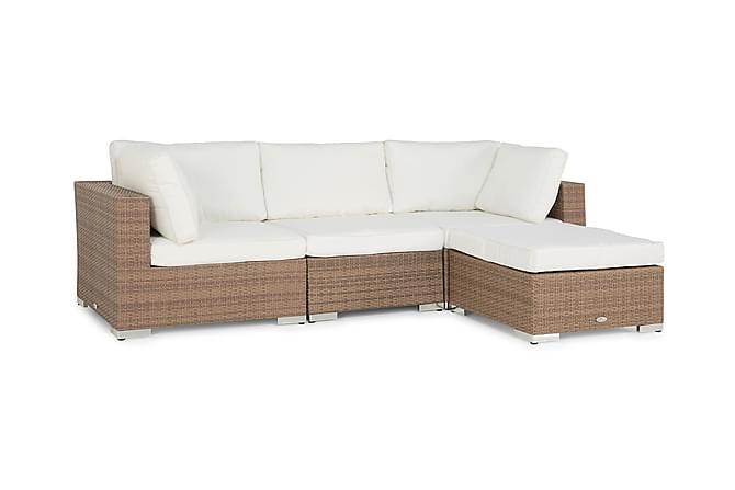 BAHAMAS Loungegrupp Small + Bord Sand - Utemöbler - Utemöbelgrupper - Loungemöbler
