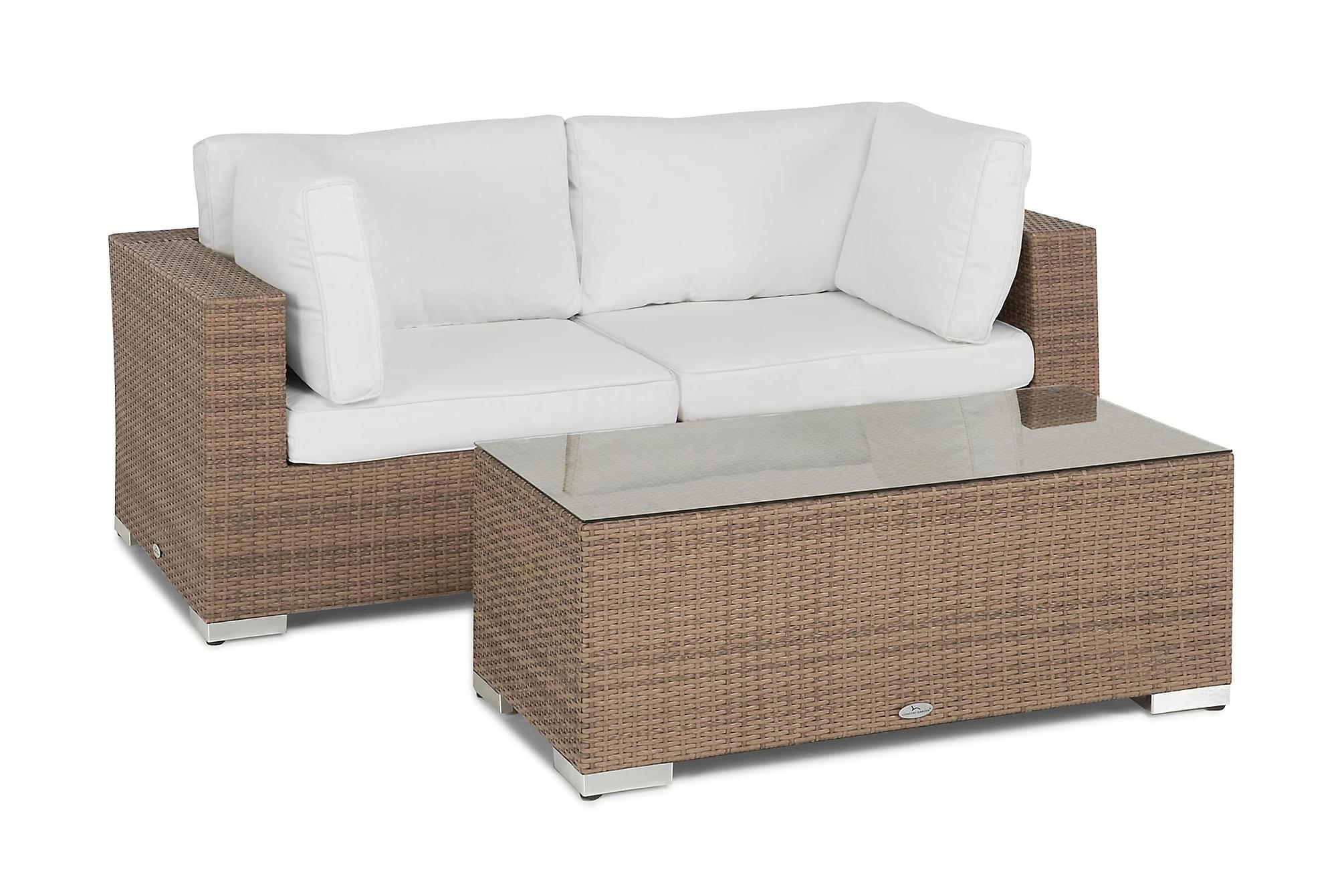BAHAMAS Loungesoffa 2-sits + Bord Sand, Balkongsoffor