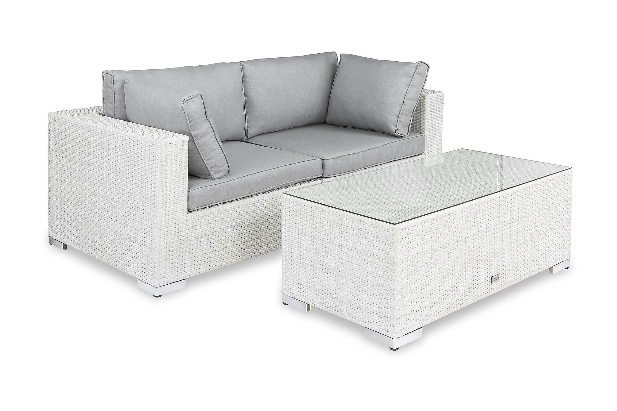 BAHAMAS Loungesoffa 2-sits + Bord Vit