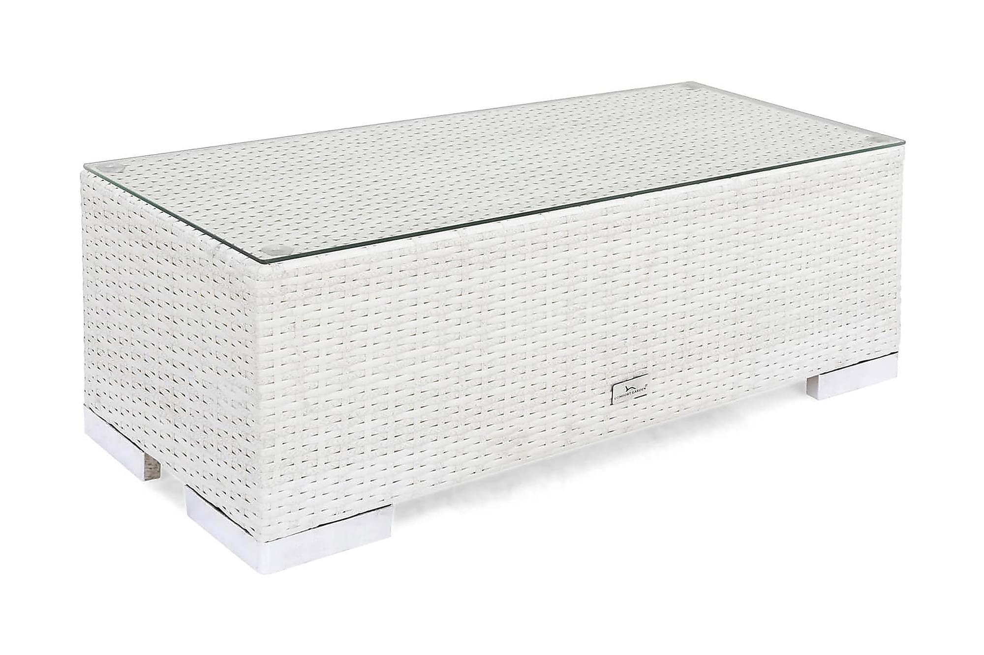 BAHAMAS Avslut 38x90 cm Vit, Loungemöbler