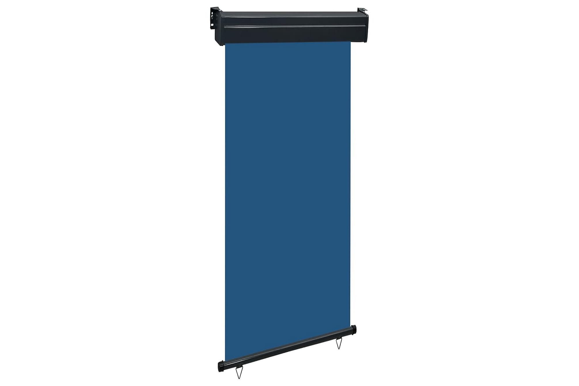 Balkongmarkis 100x250 cm blå, Markiser