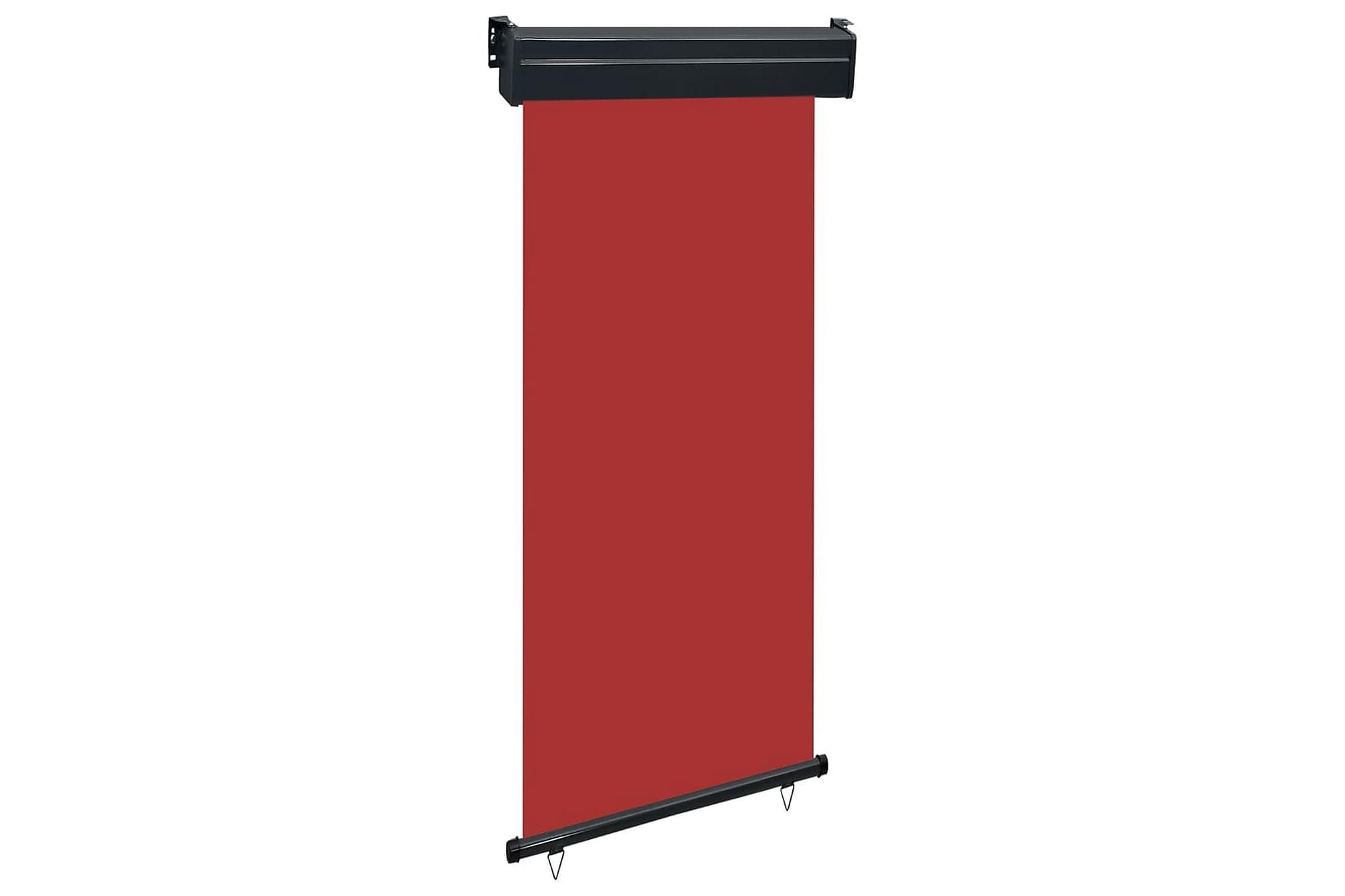 Balkongmarkis 100x250 cm röd, Markiser