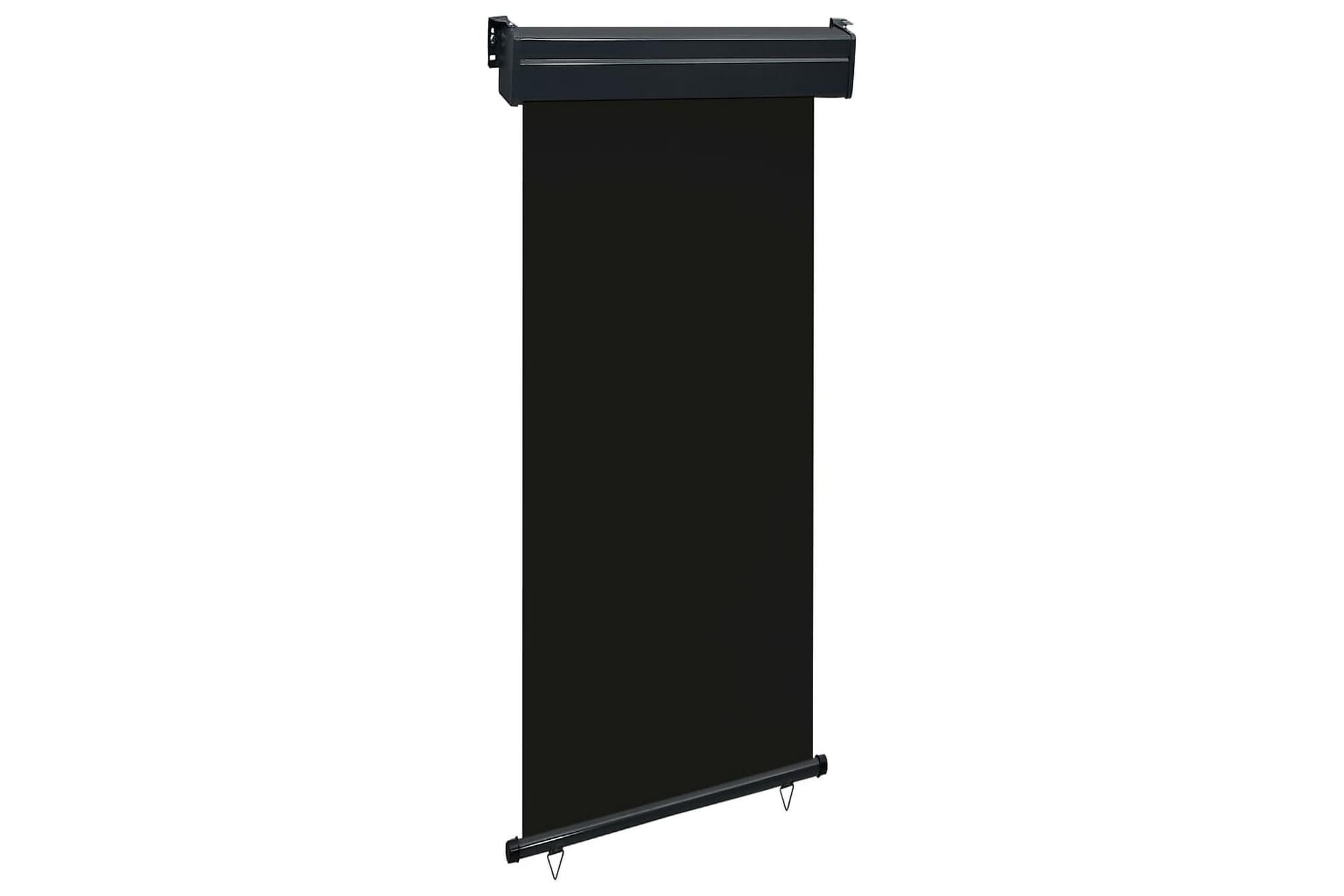 Balkongmarkis 100x250 cm svart, Markiser