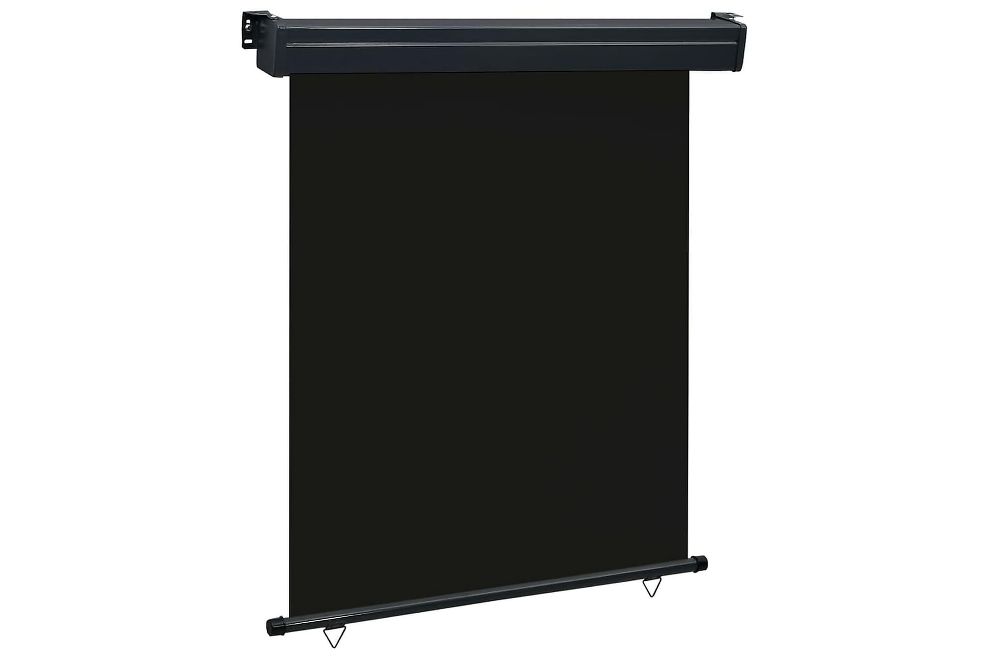 Balkongmarkis 140x250 cm svart, Markiser