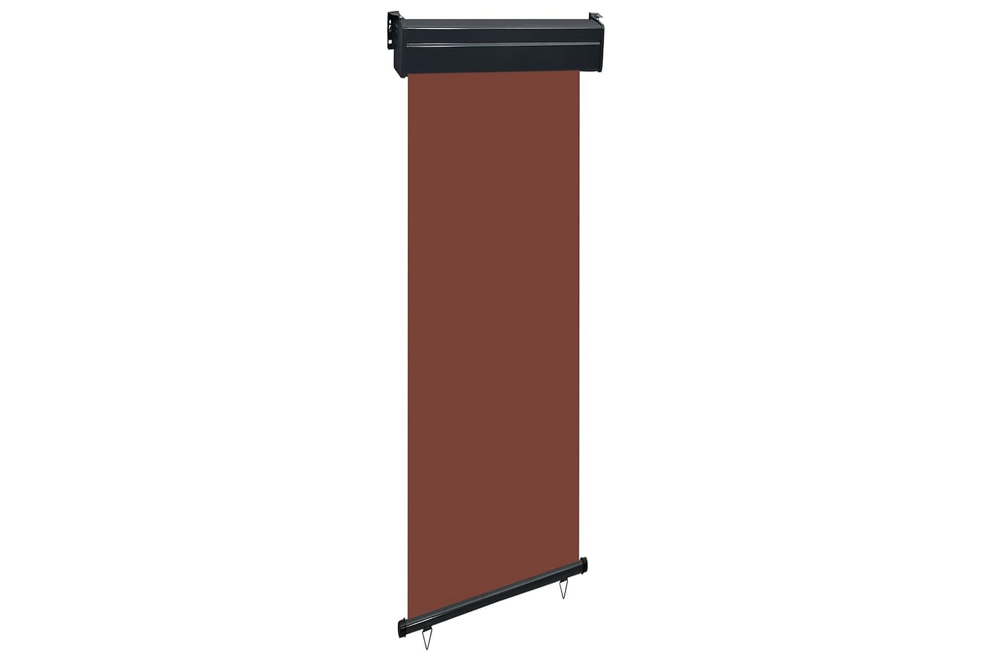 Balkongmarkis 60x250 cm brun, Markiser