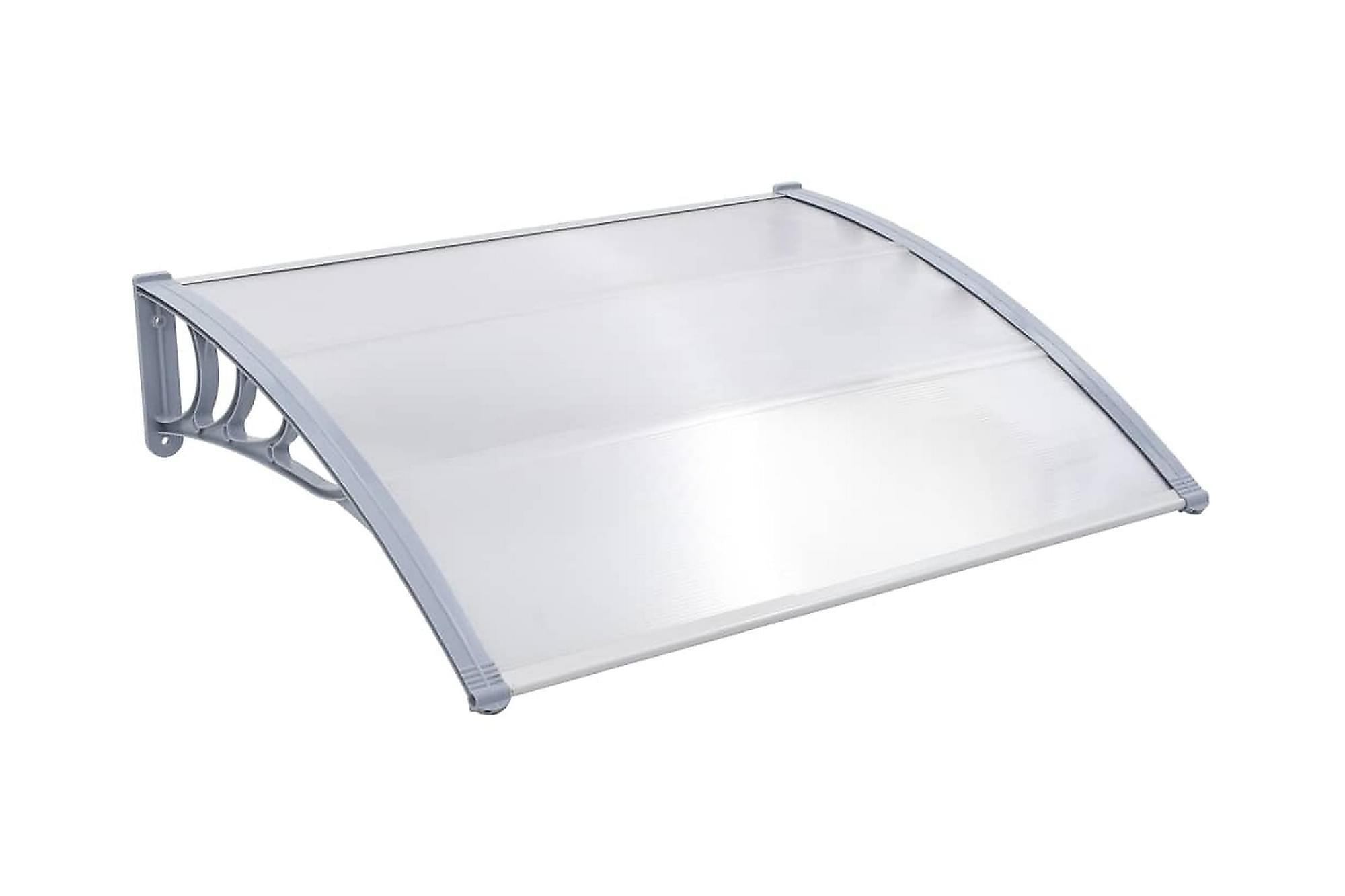 Entrétak grå 120×100 cm plast