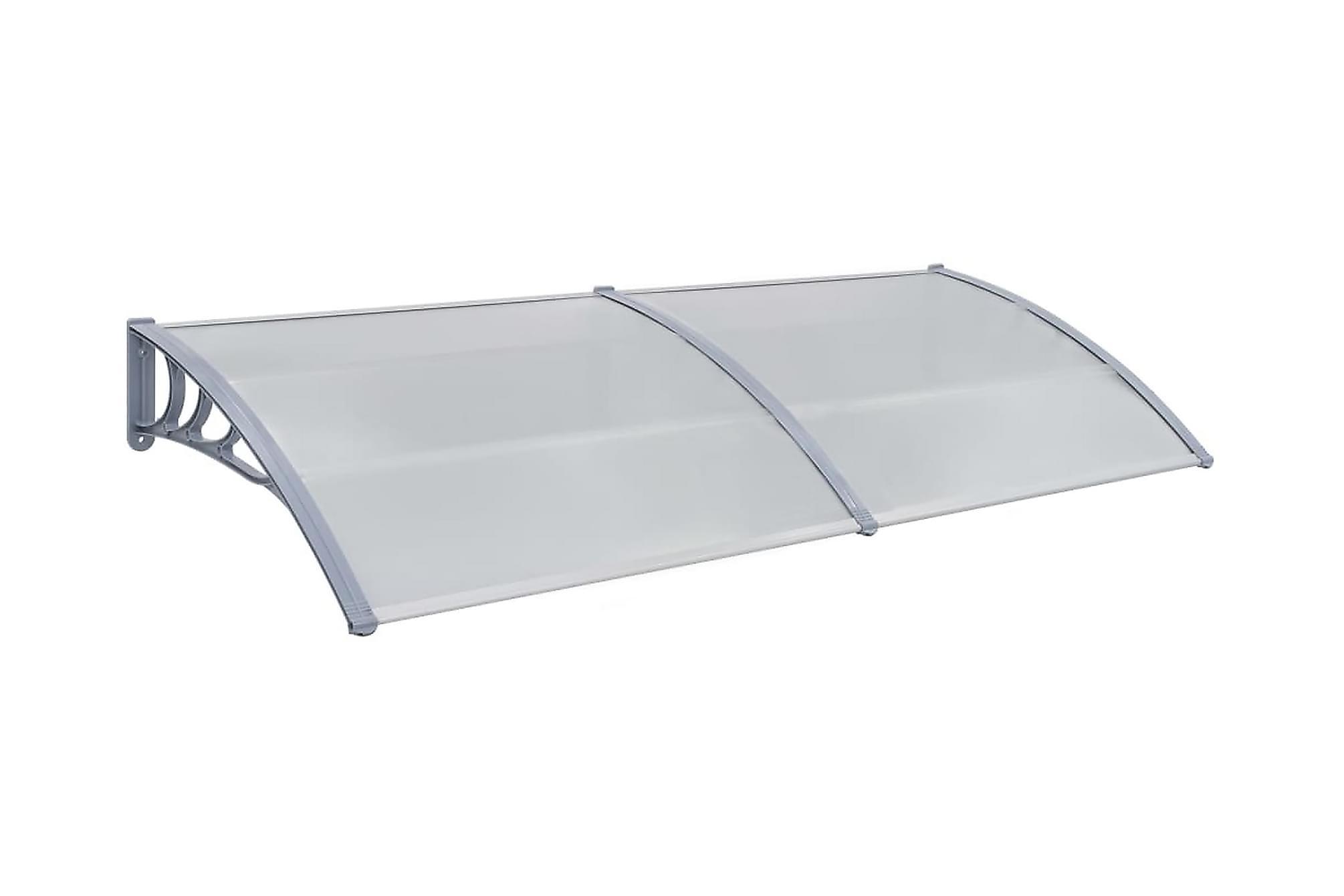 Entrétak grå 200×100 cm plast