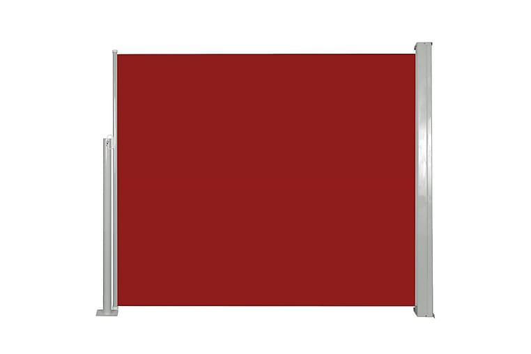 Infällbar sidomarkis 120x300 cm röd - Röd - Utemöbler - Solskydd - Markiser