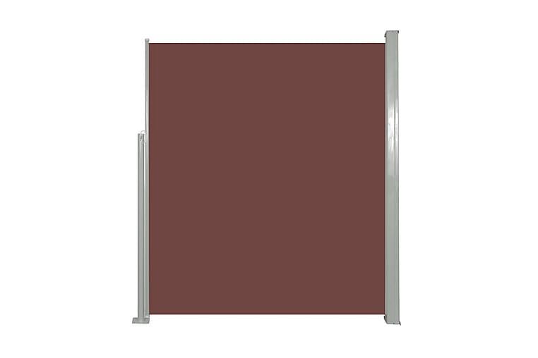 Infällbar sidomarkis 160x500 cm brun - Brun - Utemöbler - Solskydd - Markiser