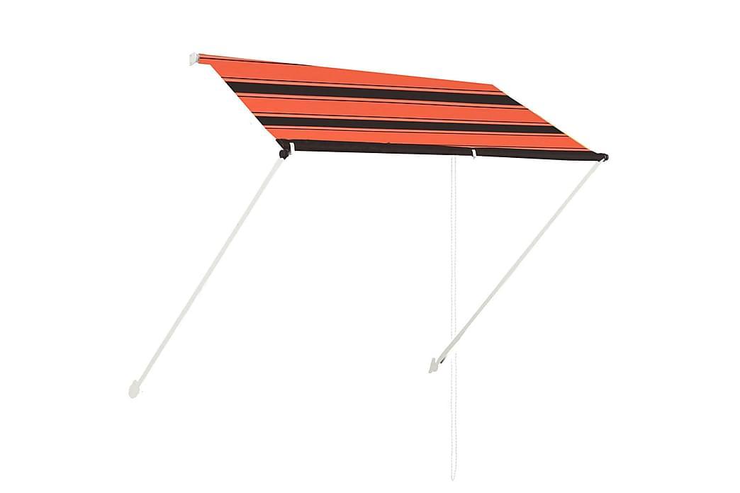 Markis 200x150 cm orange och brun - Flerfärgad - Utemöbler - Solskydd - Markiser