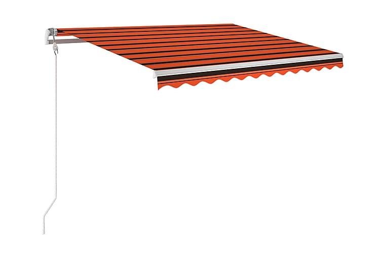 Markis automatiskt infällbar 300x250 cm orange och brun - Orange - Utemöbler - Solskydd - Markiser
