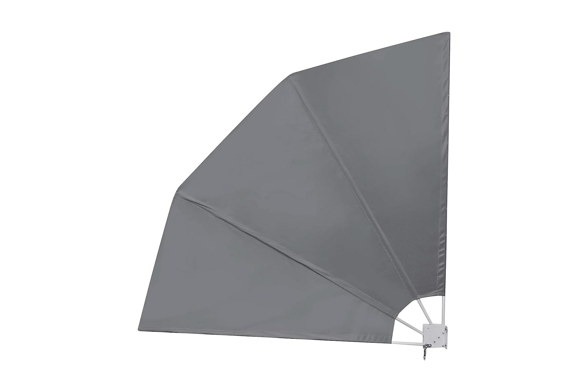 Sidomarkis för balkong grå 210x210 cm, Pergola