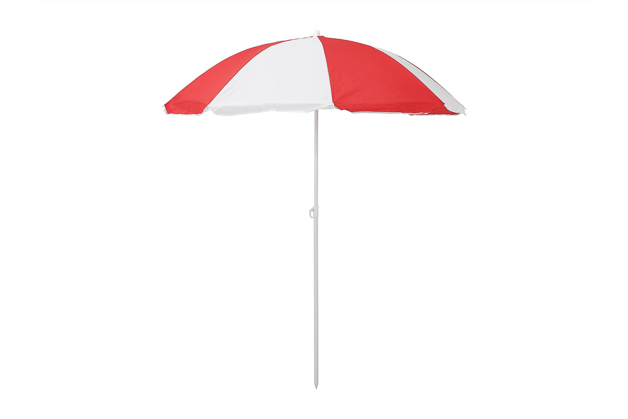GLEN Parasoll 157 Randig Röd/Vit