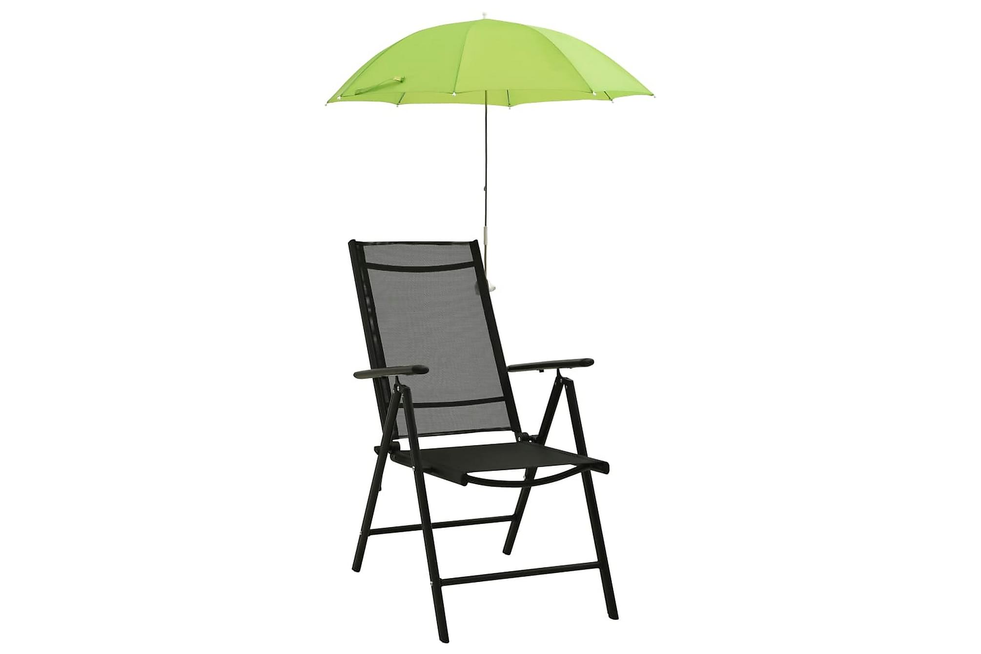 Parasoll till campingstol 2 st grön 105 cm, Parasoll