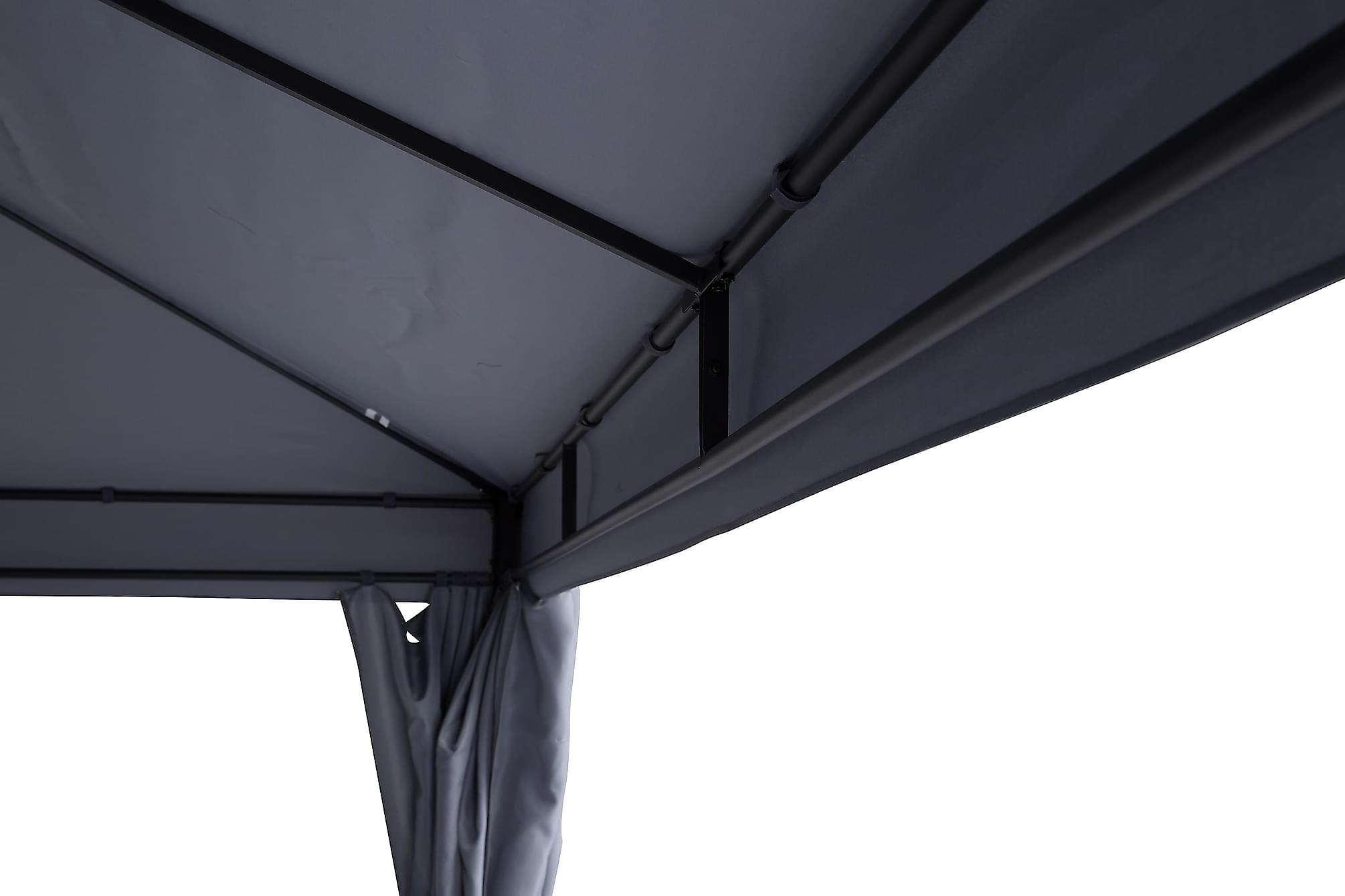 BERMUDA Väggar till Paviljong 3×4 m Ljusgrå