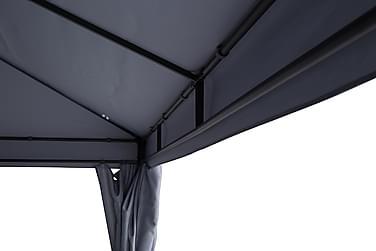 BERMUDA Väggar till Paviljong 3x4 m Ljusgrå