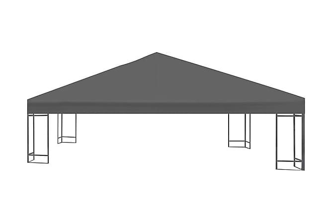 Paviljongtak 310 g/m² 3x3 m grå - Grå - Utemöbler - Solskydd - Paviljonger